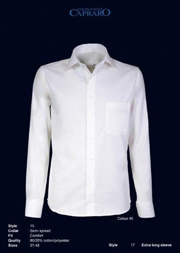 Giovanni Capraro 15-40 Heren Overhemd - Offwhite