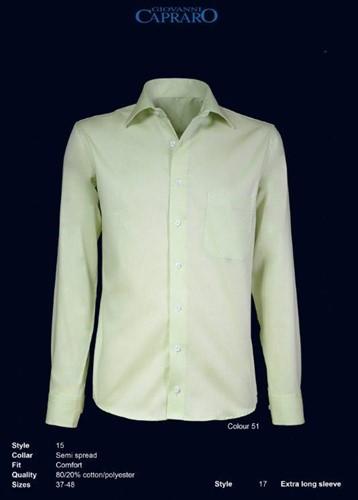 Giovanni Capraro 15-51 Heren Overhemd - Licht Groen