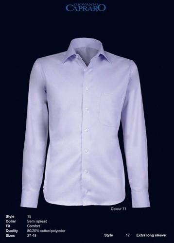 Giovanni Capraro 15-71 Heren Overhemd - Licht Paars