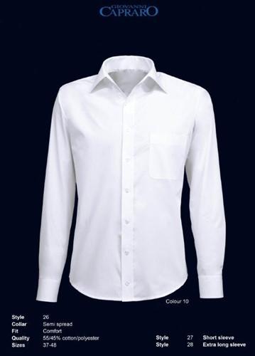 Giovanni Capraro 26-10 Heren Overhemd - Wit
