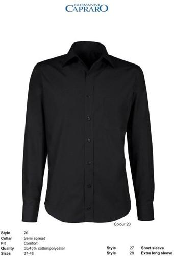 Giovanni Capraro 26-20 Heren Overhemd - Zwart