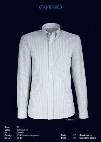 Giovanni Capraro 38-03 Heren Overhemd - Groen Gestreept