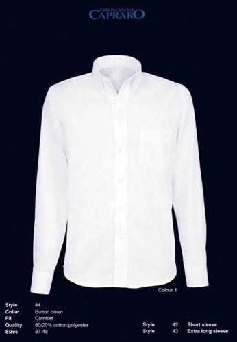 Giovanni Capraro 44-01 Heren Overhemd - Wit