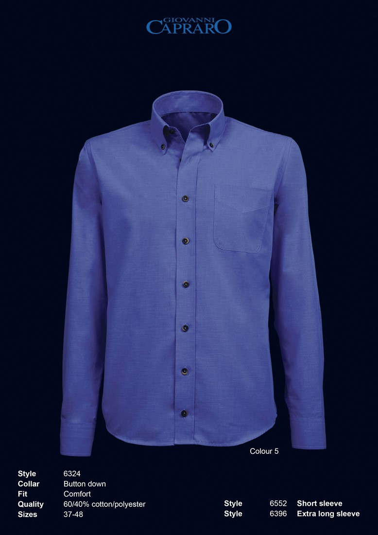 Overhemd Blauw.Giovanni Capraro 6324 05 Overhemd Blauw Giovanni Capraro