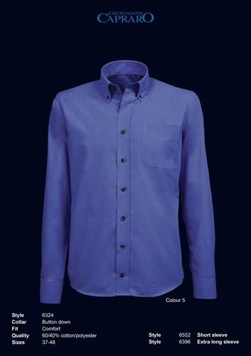 Giovanni Capraro 6324-05 Heren Overhemd - Blauw