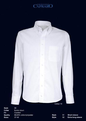 Giovanni Capraro 90-10 Overhemd - Wit